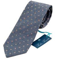 Immagine di Cravatta fantasia fondo azzurro