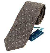 Immagine di Cravatta fantasia fondo grigio