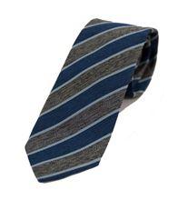 Immagine di Cravatta a righe blu e grigie