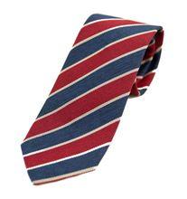 Immagine di Cravatta a righe blu e rosse