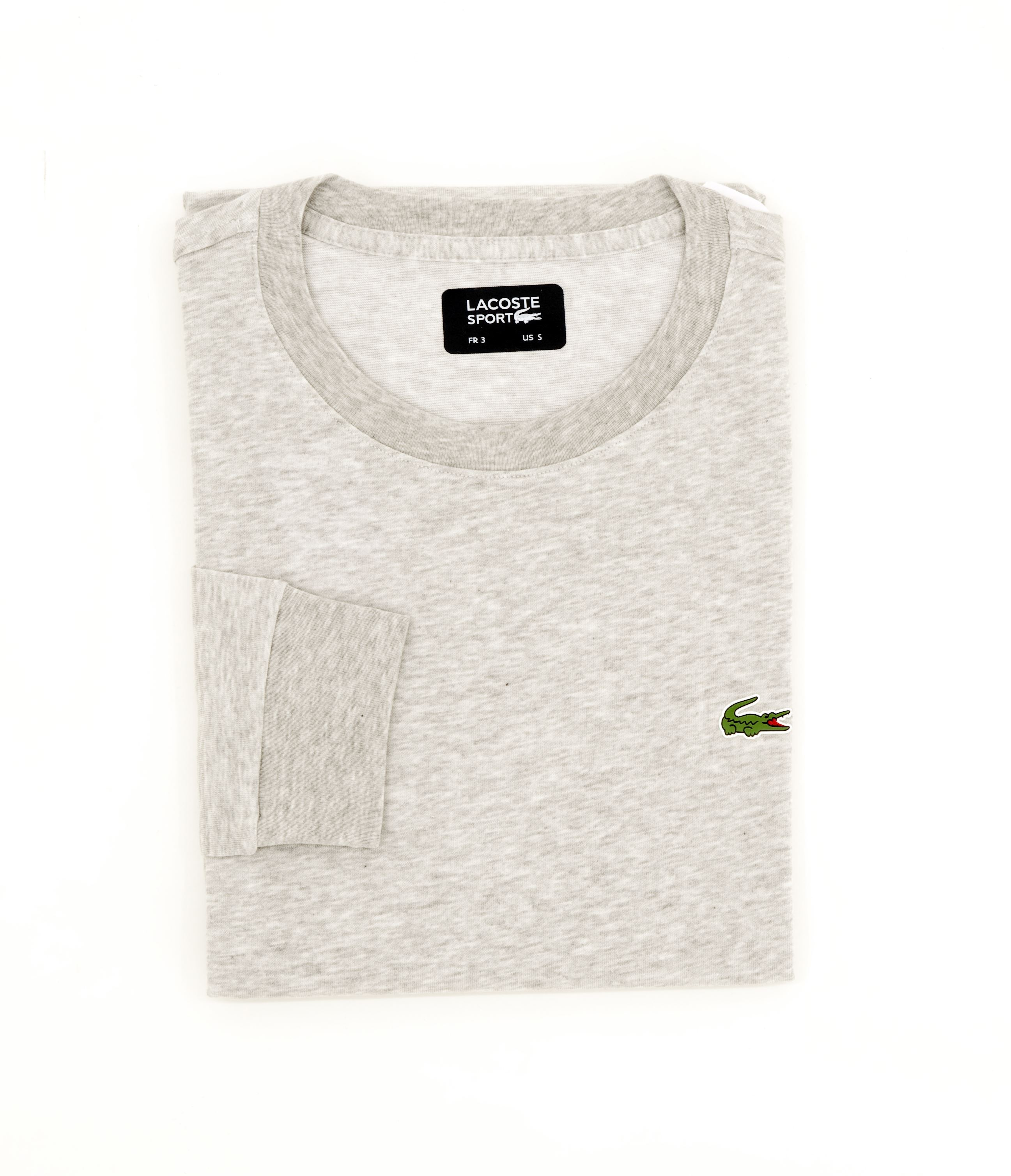 d6d65efce Lacoste long sleeve t-shirt argent chine Regular Fit - Floccari Store