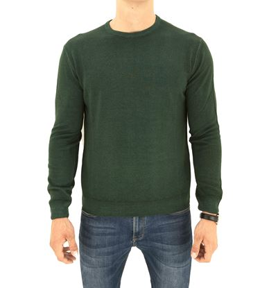 Picture of STONE-WASHED ROUND NECK MERINO SWEATER