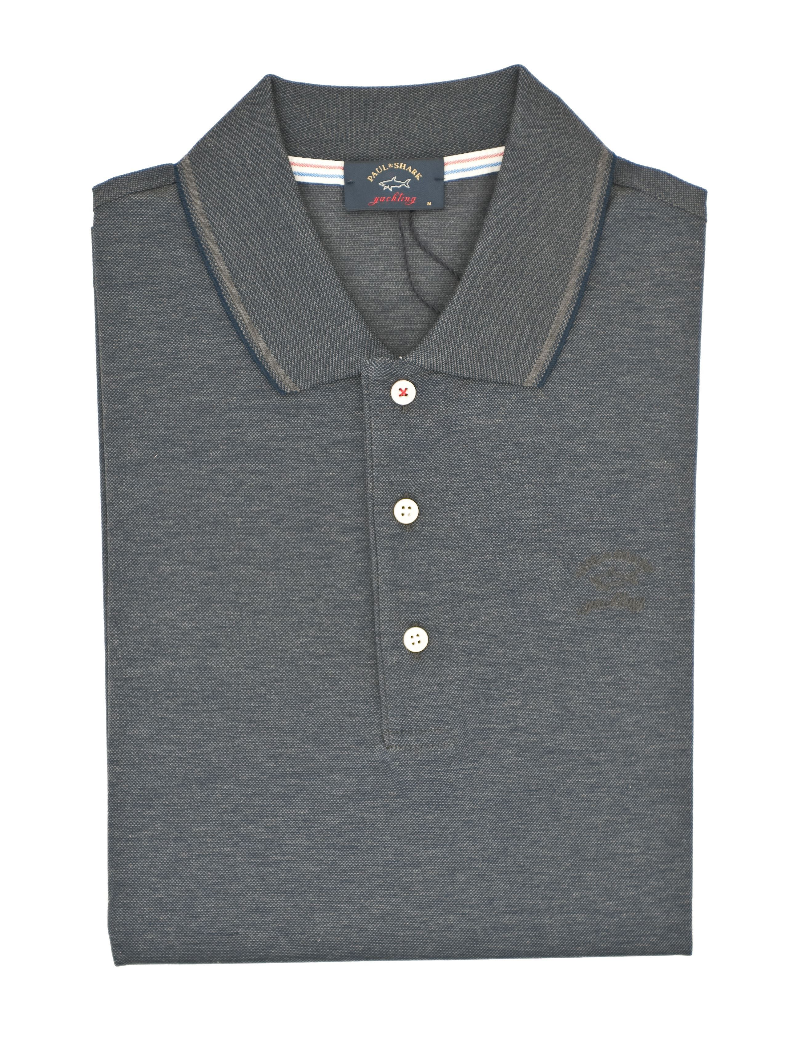 Picture of Short-sleeved piqué cotton polo shirt