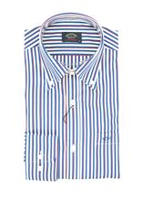 Picture of White shirt with blue and red stripes