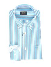 Picture of Camicia fantasia a righe azzurro e turchese