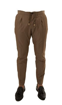 Picture of Cotton trousers with drawstring