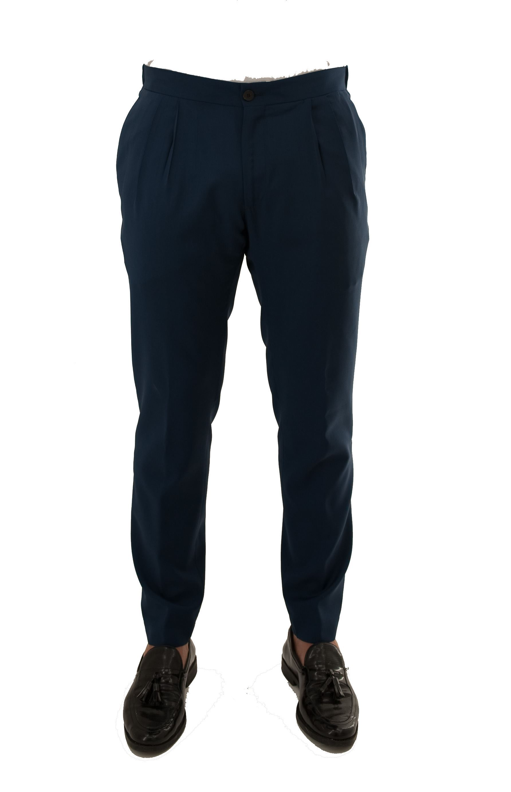 Picture of Summer trousers with drawstring in wool cloth