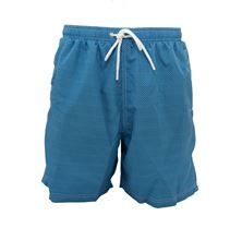 Picture of Blue micro-patterned swim shorts