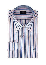 Picture of White shirt with blue and pink stripes