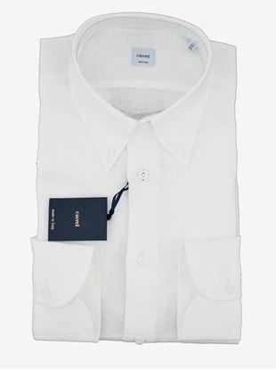 Immagine di Camicia in lino bianca button down