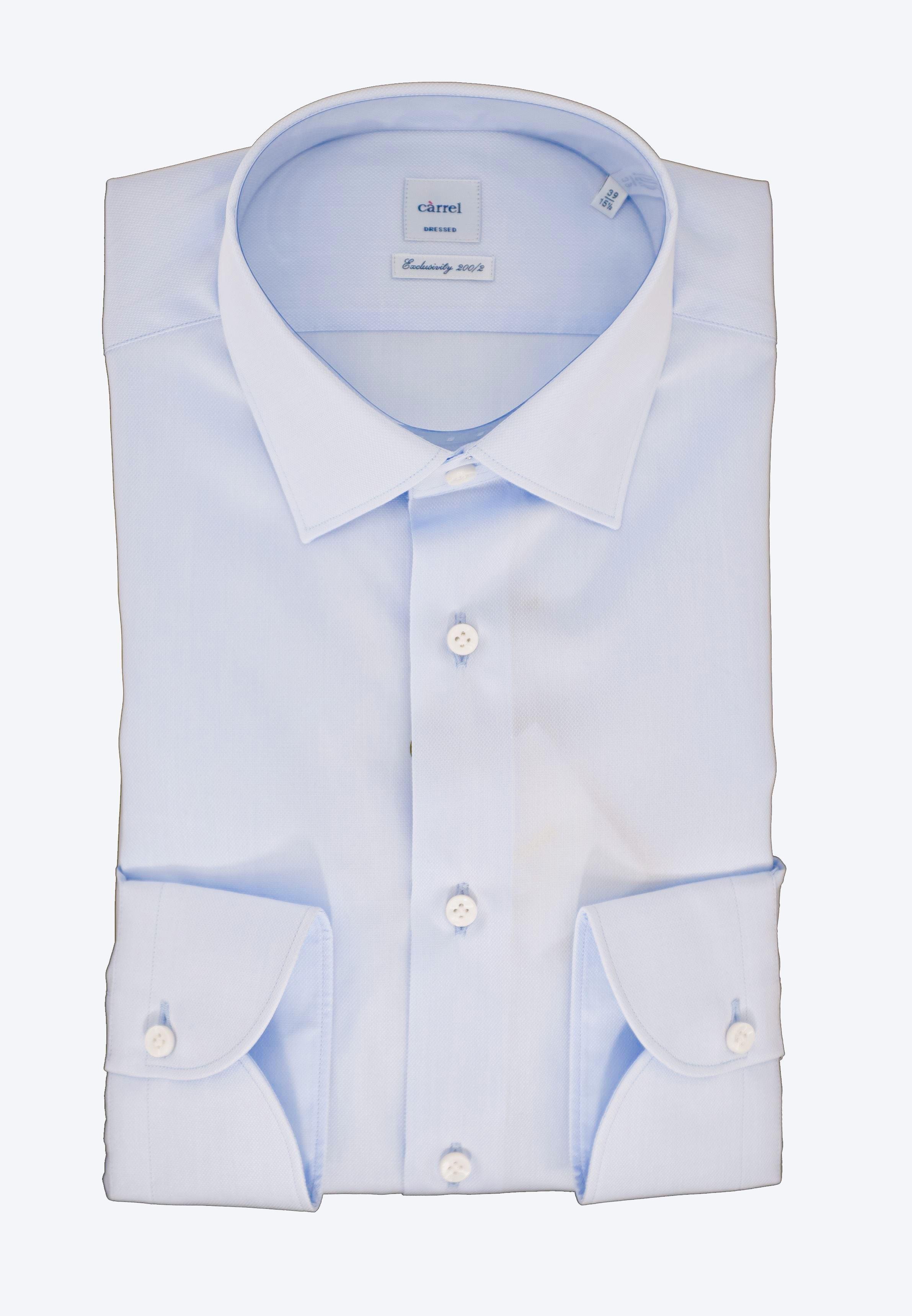Immagine di Camicia in panama di cotone celeste