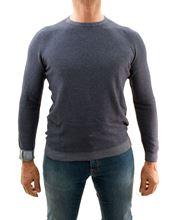 Picture of Crewneck Camogli cotton and cashmere blue 2-Shade