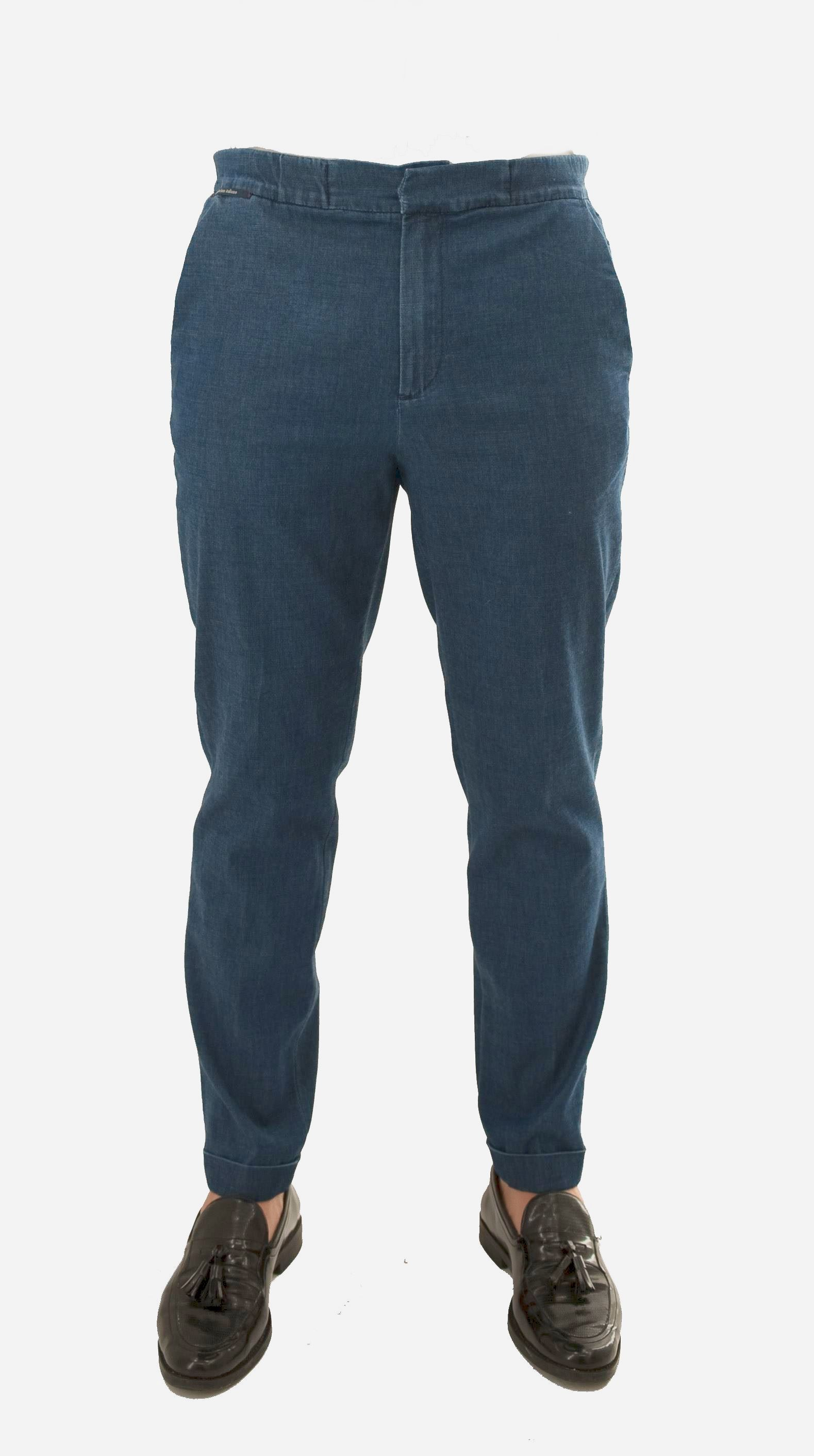 Immagine di Pantalone denim con coulisse