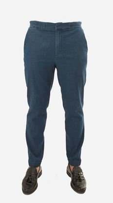 Picture of Denim pants with drawstring