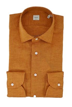 Picture of Washed pumpkin-colored linen shirt