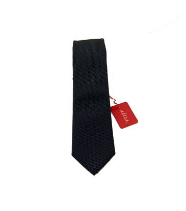 Picture of Blue patterned silk tie