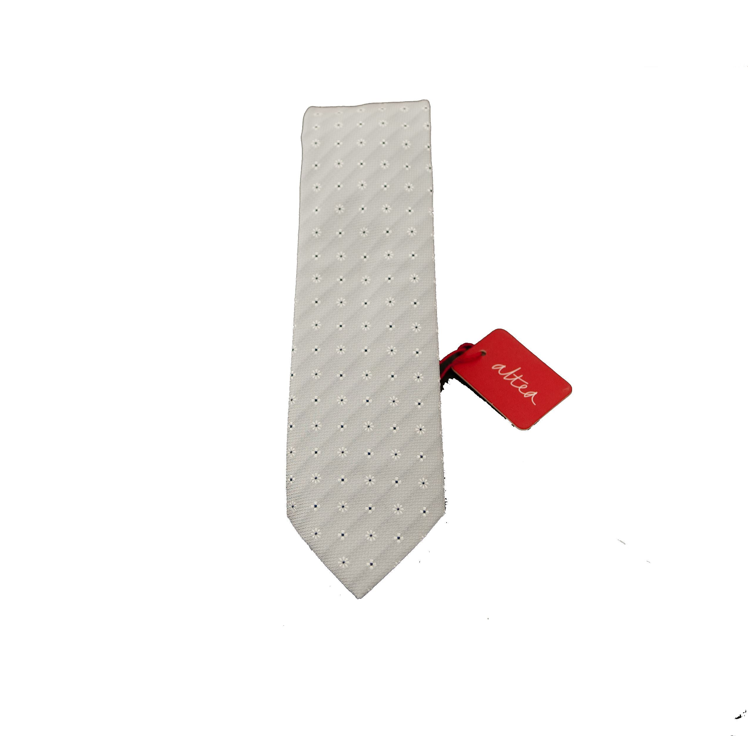 Picture of Silk tie with pearl gray background
