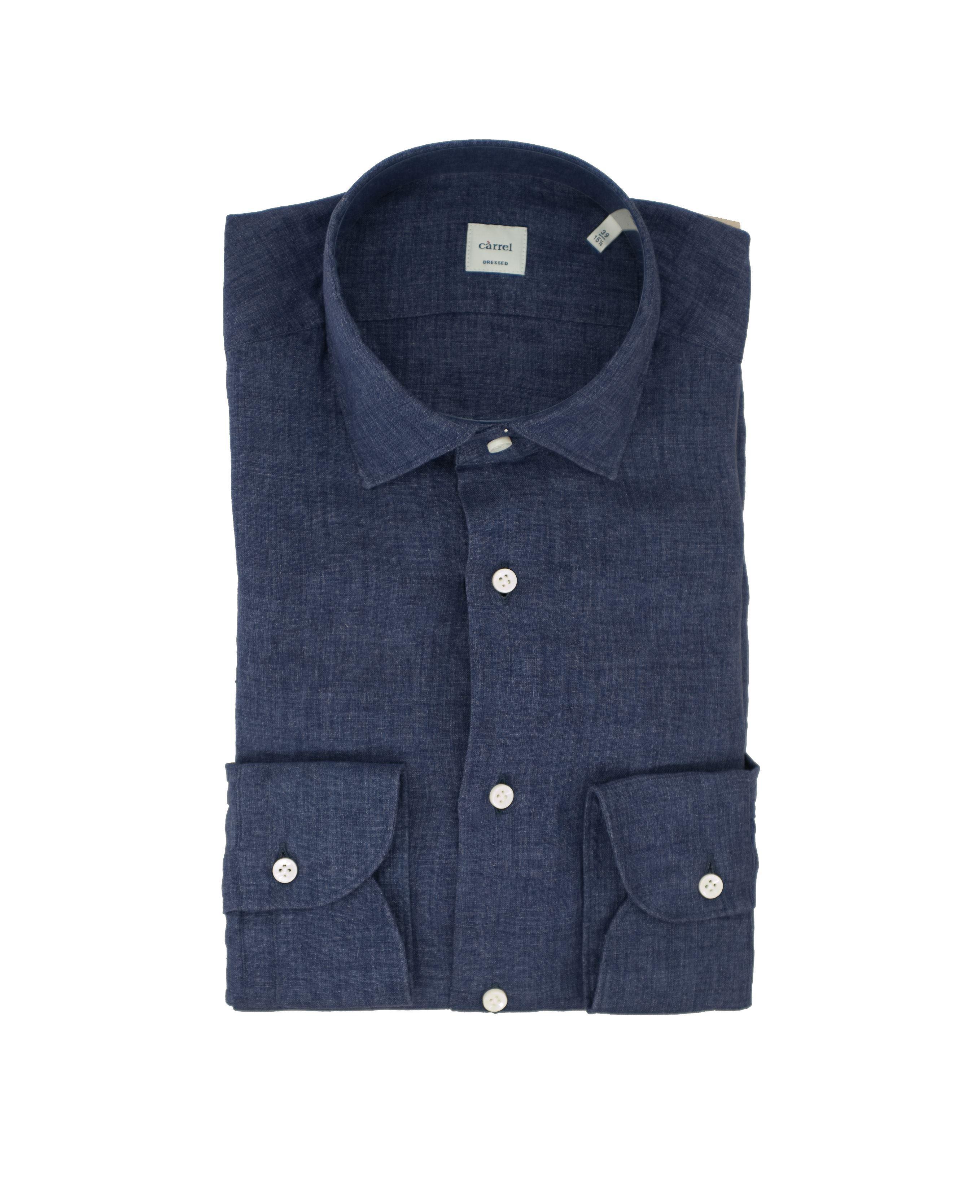 Immagine di Camicia lino lavato blu