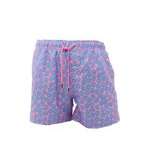 Picture of Fancy smile coral background swim shorts