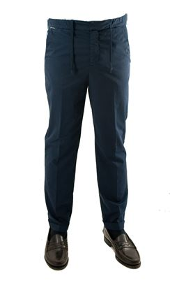 Picture of Pantalone blu in cotone con coulisse