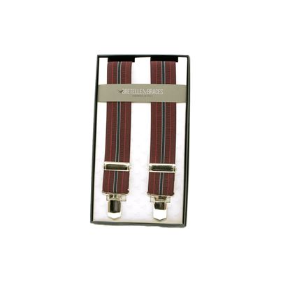 Picture of Tape braces with burgundy stripes