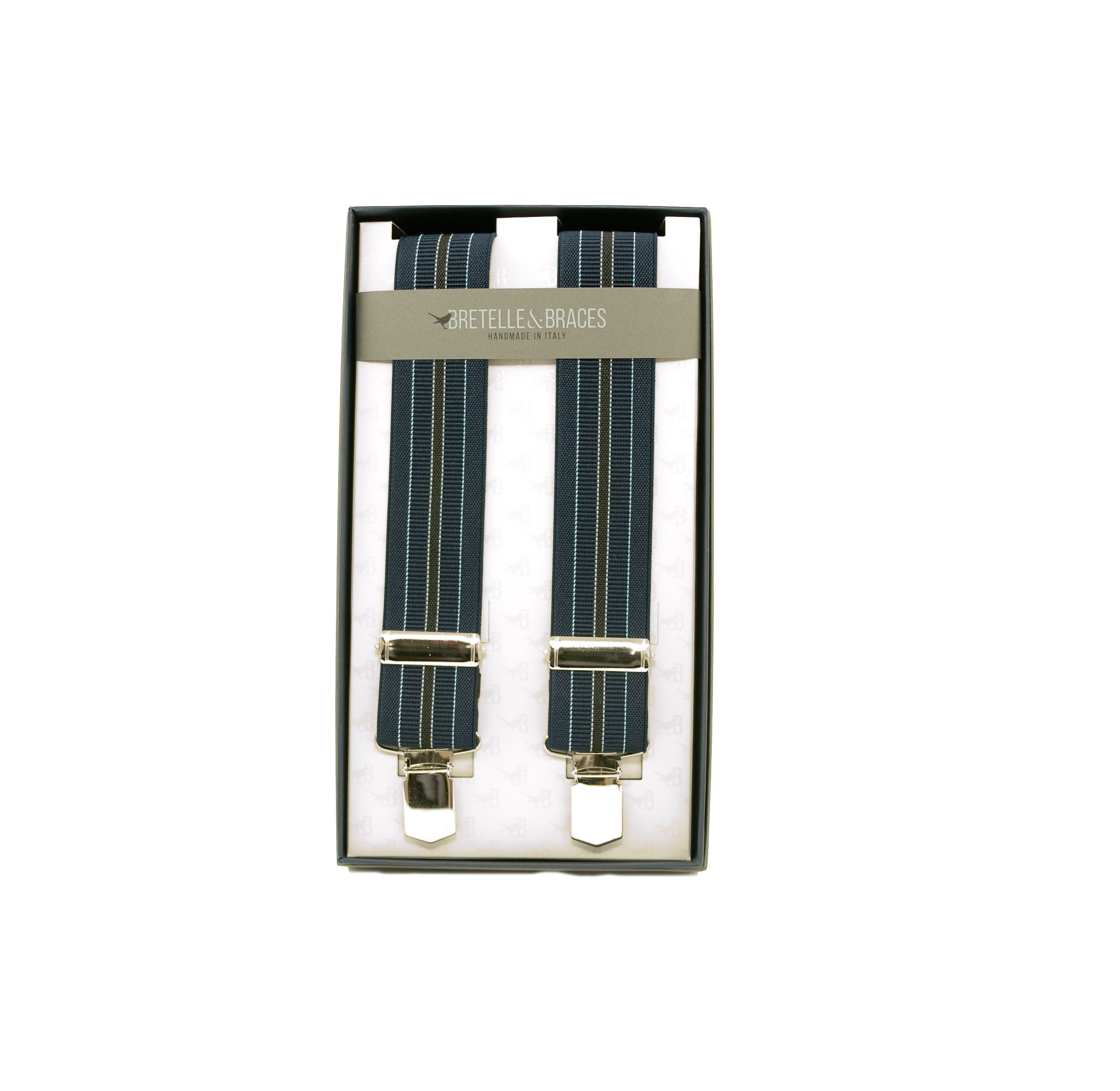 Picture of Tape braces with blue and grey stripes