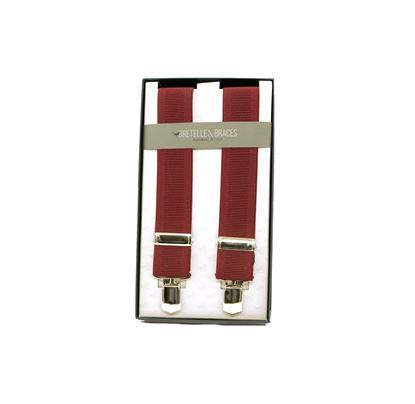 Picture of Tape braces with burgundy backgroud