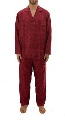 Picture of Men's Silk Pajamas with buttons