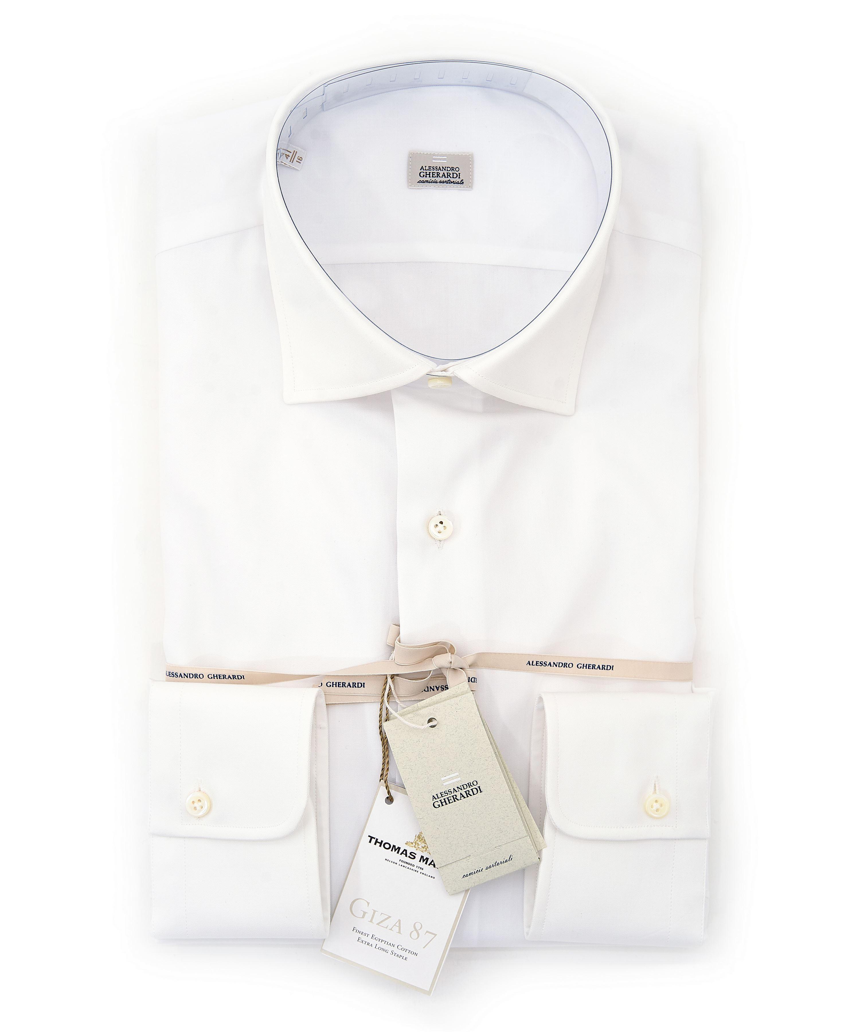Immagine di Camicia bianca in twill di cotone