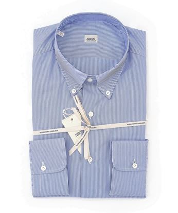 Picture of White and light blue striped shirt