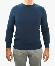 Picture of Crew neck wool colour royal blue