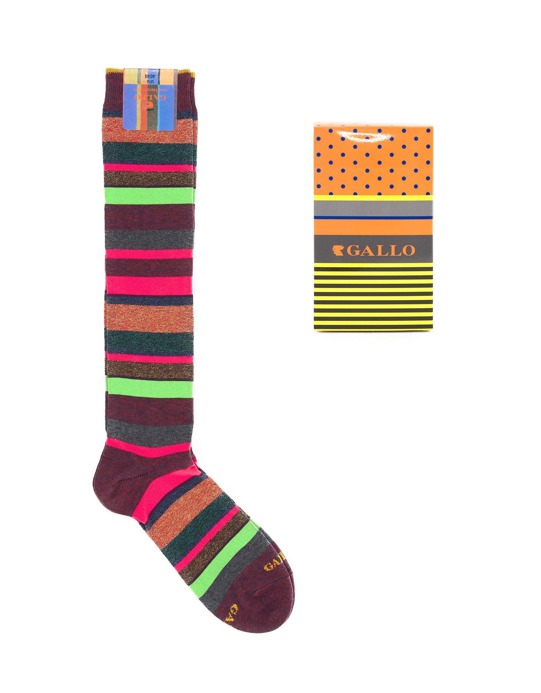 Immagine di calza lunga multicolor fluo borgogna