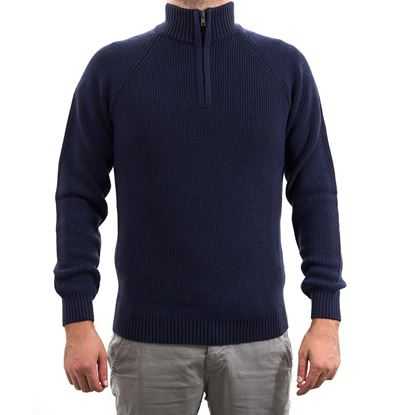 Picture of Ribbed turtle-neck sweater with zip