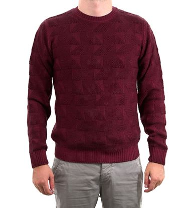 Picture of Washed marquetry crew-neck sweater