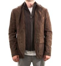 Picture of Brown leather field jacket