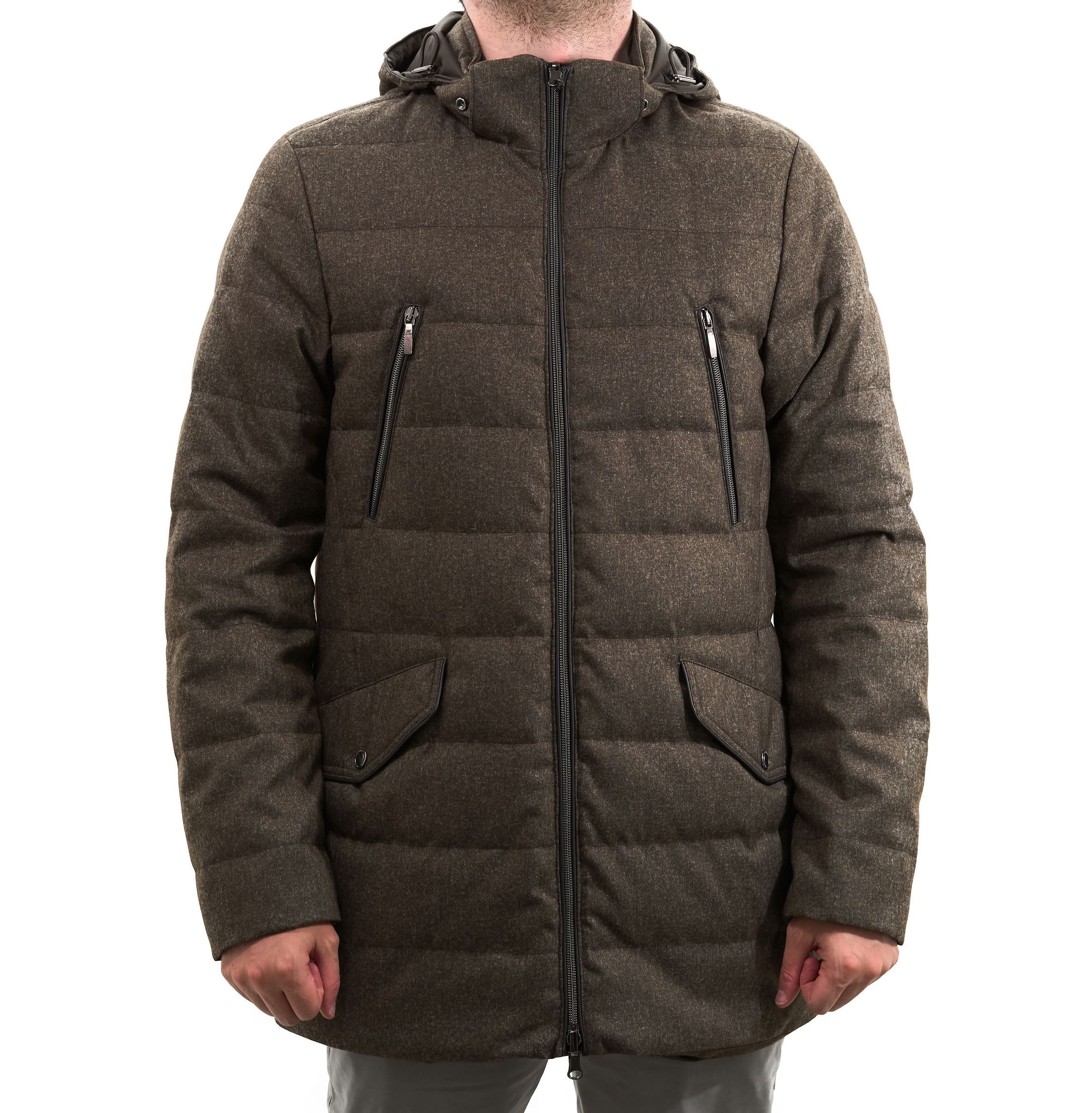Picture of Reversible brown parka in down