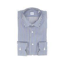 Immagine di Camicia manica lunga fondo bianco riga blu