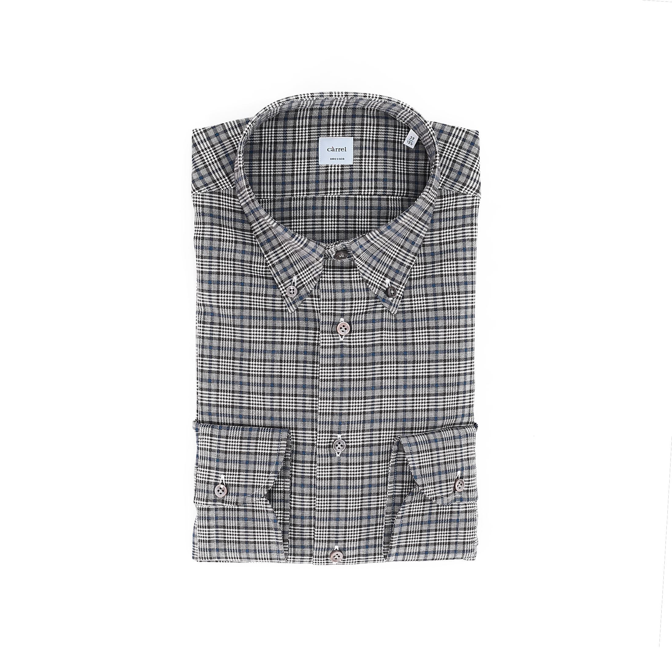 Picture of camicia quadri marrone e blu