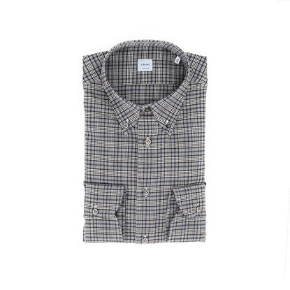 Picture of Brown and blue checked shirt