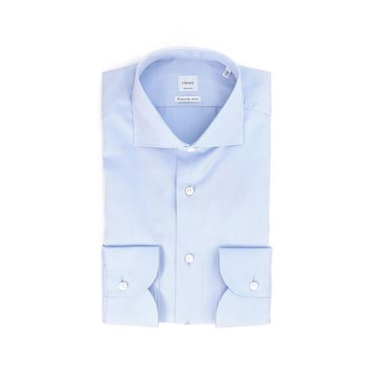 Picture of Micro pattern shirt light blue background