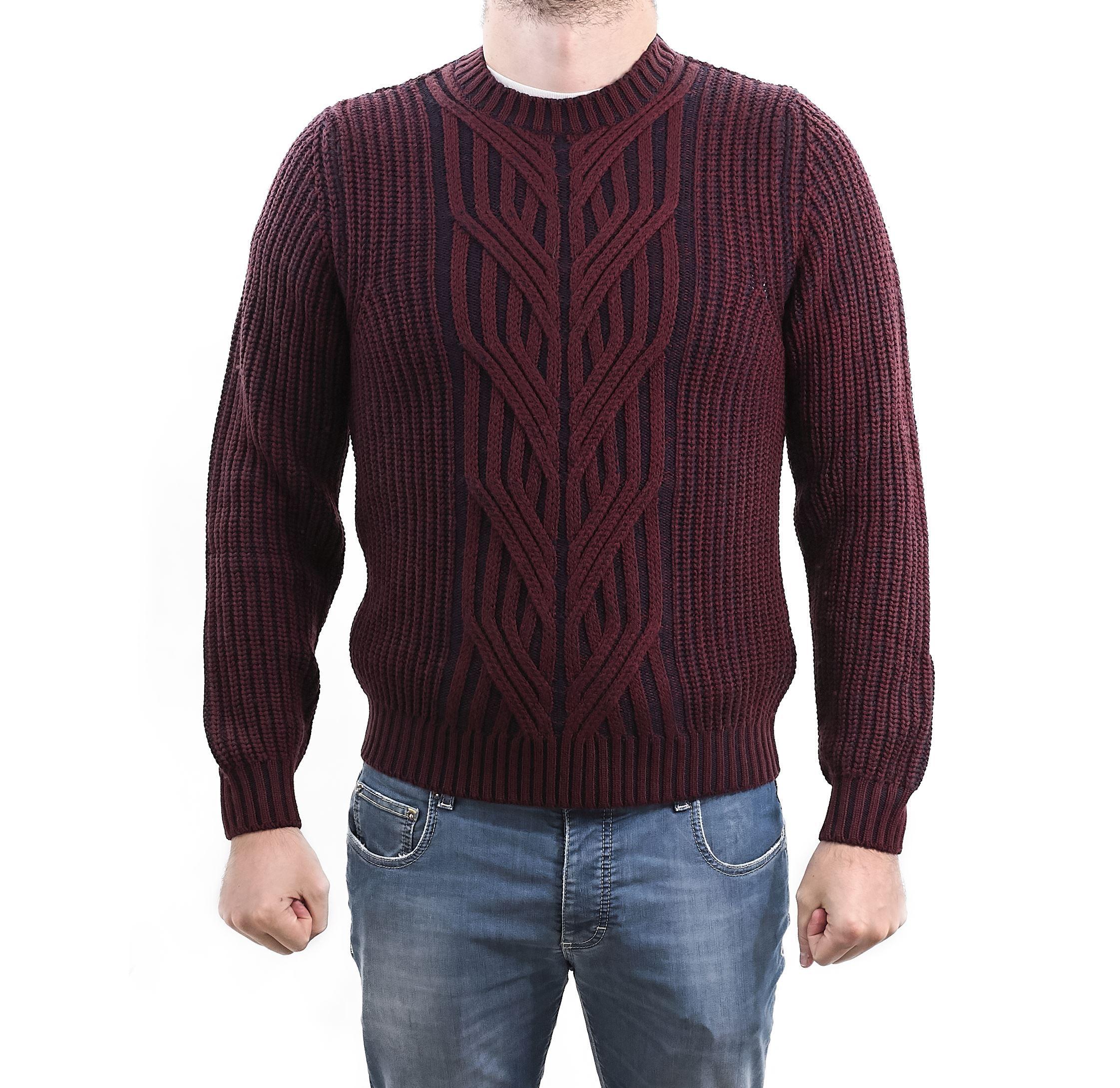 Immagine di Girocollo lana trecce e coste