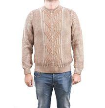Immagine di Girocollo in lana pesante a trecce e coste