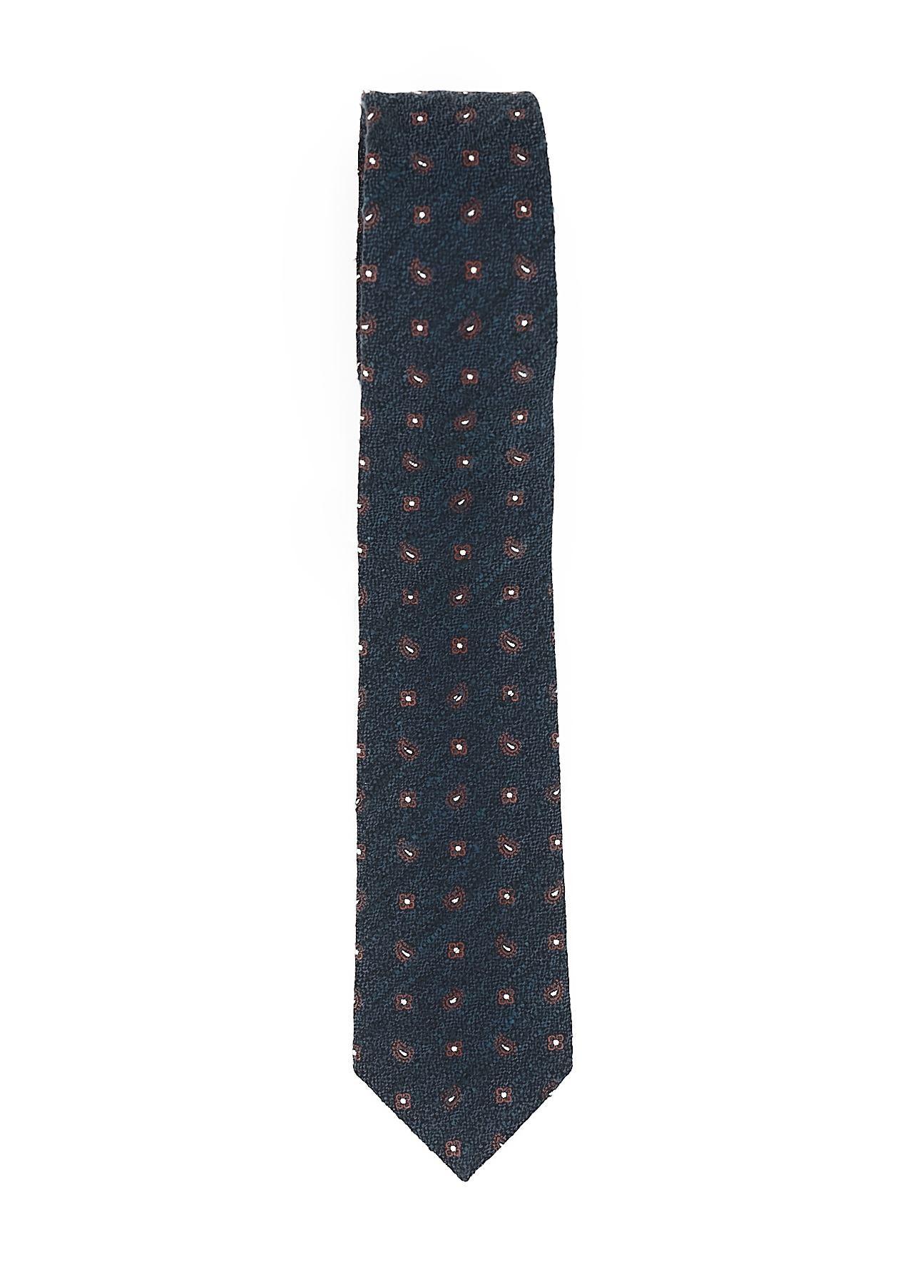 Immagine di Cravatta seta cotone fondo blu