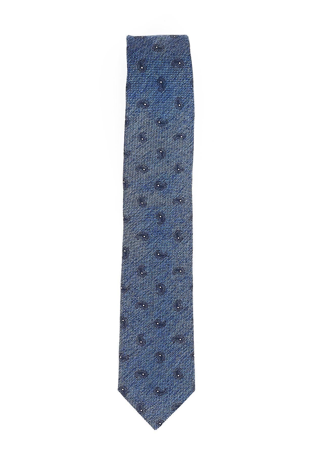 Immagine di Cravatta seta cotone fondo blu chiaro