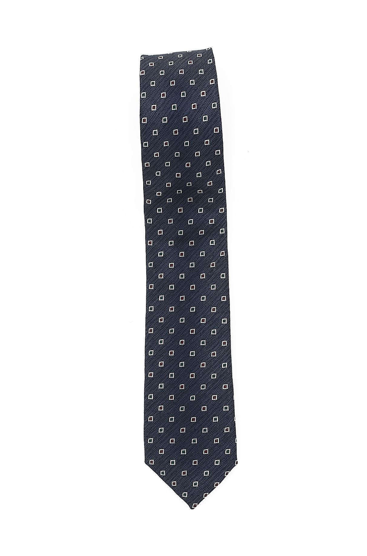 Immagine di Cravatta seta e cotone fondo blu