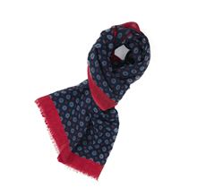 Picture of Wool scarf blue background with small pattern