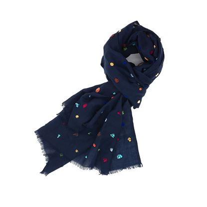 Picture of wool scarf with multicolor dots