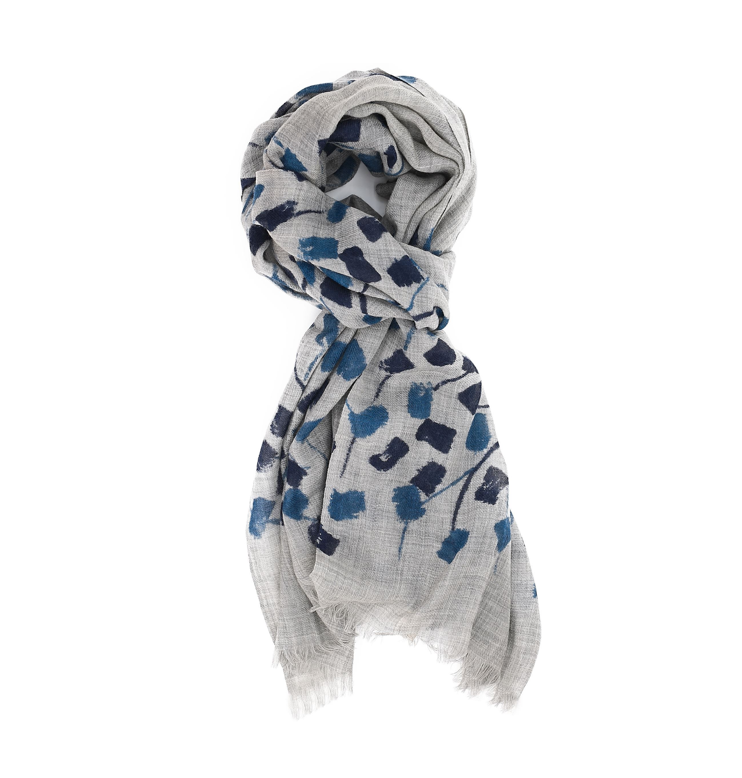 Picture of Wool scarf with grey background