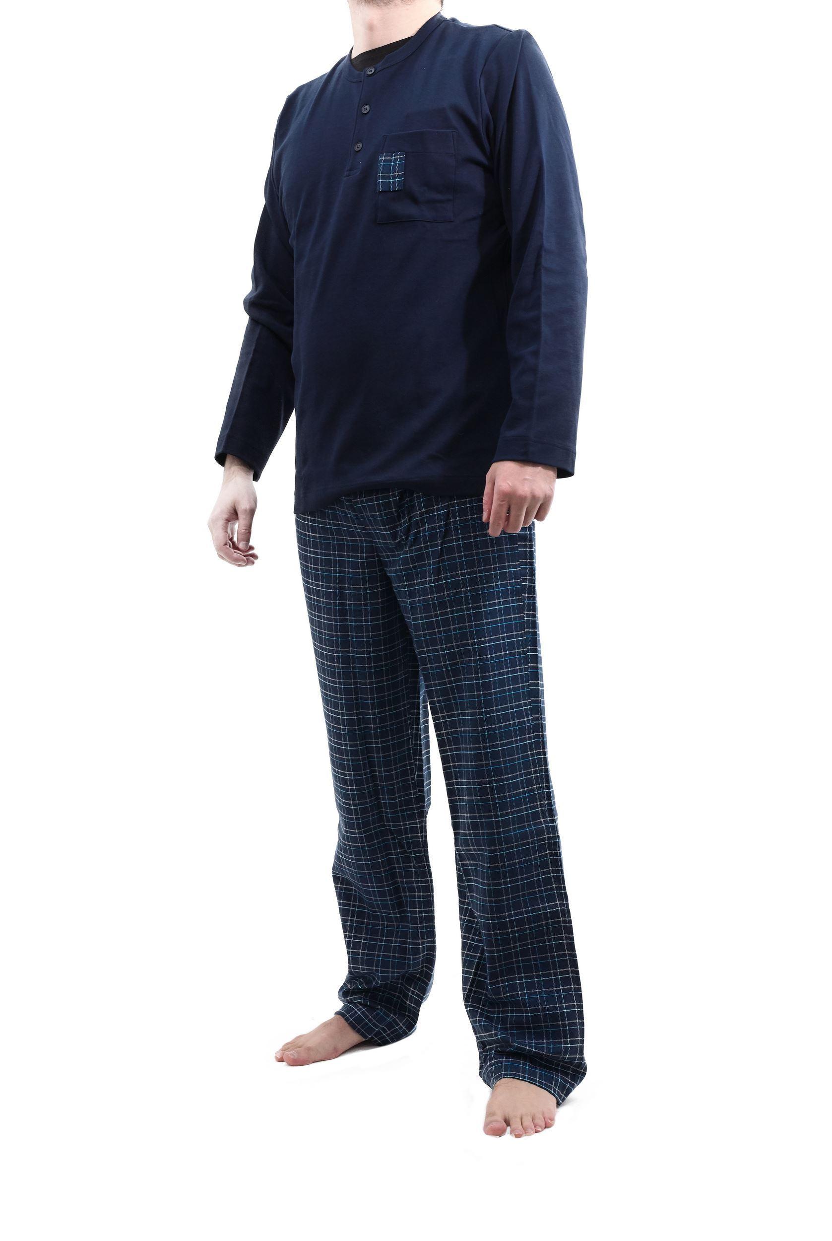 Picture of Men's Cotton Pyjamas, 3 buttons