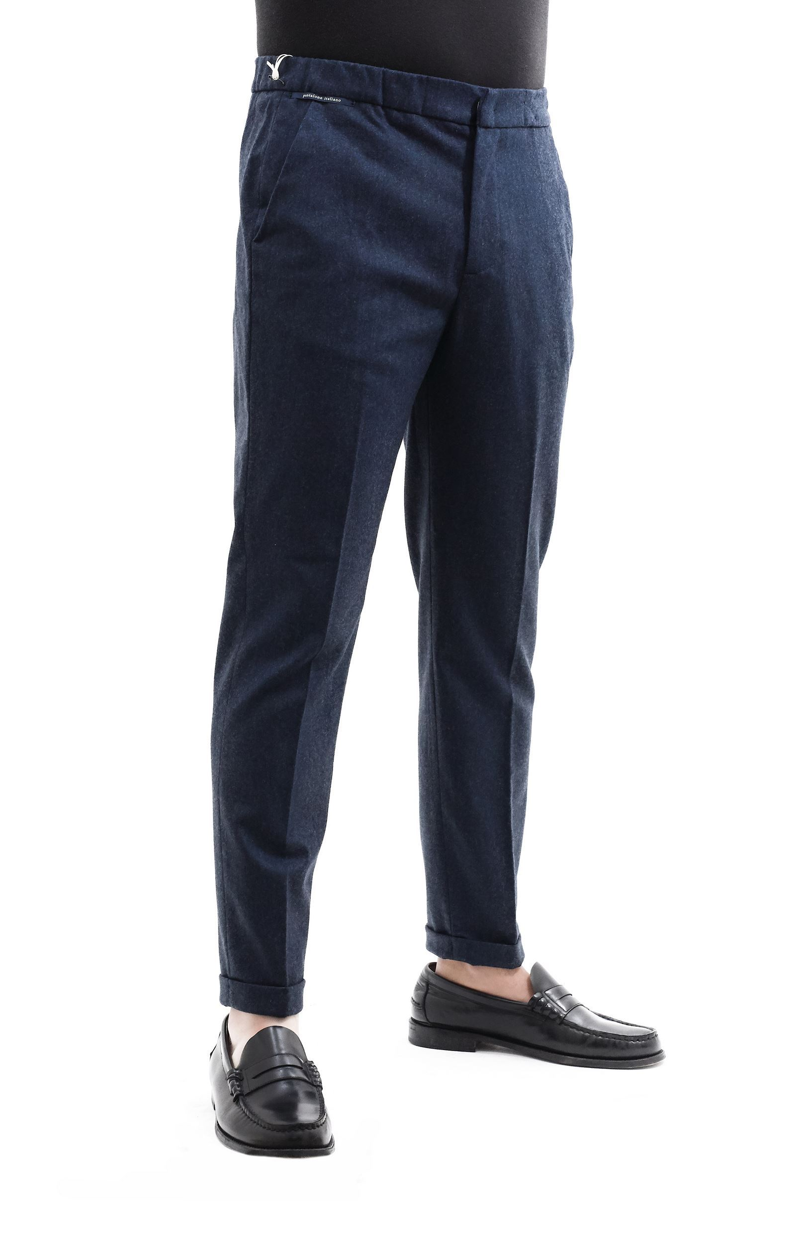 Picture of Wool trousers with drawstring light blue
